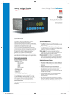 Model 1080 - Compact Panel Mount Weight Indicator Brochure