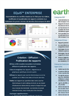 EarthSoft EQuIS Enterprise Data Sheet  2012 (French)