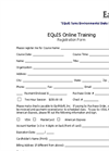 Online Training Registration Form
