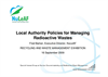 Local authority policies for managing radioactive waste Presentations Brochure (PDF 341 KB)