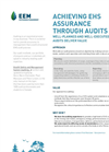 EHS Assurance Through Audits Brochure