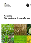 CAP Reform: Greening: Work out what it means for you - Brochure