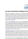 Are Your Instruments Reading Correctly? Brochure
