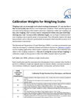 Calibration Weights For Weighing Scales Brochure