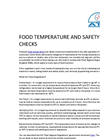 Food Temperature And Safety Checks Brochure