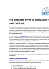 The Different Types Of Thermometer And Their Use Brochure