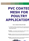 Aviary, Cage and Poultry Mesh Brochure