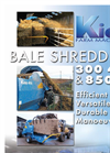 Kidd - Model 450 and 850 - Bale Shredders Technical Specifications Brochure