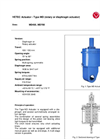 Model Type MD - Actuator Brochure