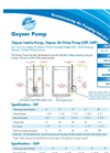 Geyser - Model GAP - Air-Pulse Pump - Datasheet