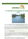 10″ Calm Water & River Standard Oil Containment Boom Datasheet