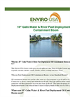 Enviro-USA - Model 10 Inch - Calm Water & River Fast Deployment Oil Containment Boom Datasheet