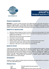 EPICIN - Model D - Biological Aquaculture Treatment - Datasheet