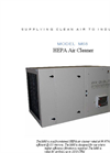 Model M68 - Self-Contained HEPA Air Cleaner - Datasheet