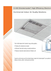 Smokemaster - Model X-400 - High Efficiency Electronic Air Cleaner - Datasheet