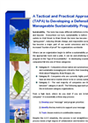 A Tactical and Practical Approach (TAPA) to Developing a Defensible and Manageable Sustainability Program