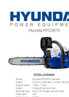 Petrol Chainsaw  HYC3816- Brochure