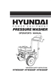Petrol Pressure Washer HYW2500P 2800psi- Brochure