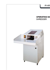 HSM Powerline - Model FA 400.2 - Document Shredder for Archives and Large Bulks - Operating Manual