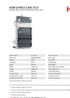 HSM - Model V-Press 605 ECO - Vertical Baling Presses - Double Door With Handwheel Door Lock - Datasheet