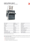 HSM V-Press 860 P Vertical Baling Presses - Datasheet