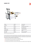 HSM - Model 8 TE - Horizontal Baling Presses Small Baler - Datasheet