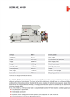 HSM Model HL 4010 Horizontal Baling Press - Datasheet