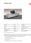 HSM Model AK 807 Channel Baling Presses - Datasheet
