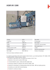 HSM - Model VK 1206 - Channel Baling Presses - Datasheet