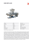 HSM - Model URP-S-200 - Universal Recycling Presses - Datasheet