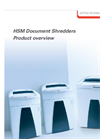 HSM - Document Shredders Product Overview - Brochure
