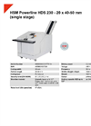 HSM Powerline HDS 230 (Dual Stage) Hard Drive Shredder - Datasheet