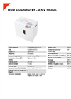 HSM Shredstar X5 - 4,5 x 30 mm Document Shredder - Datasheet