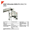 HSM TriShredder 6060 (P-3 | O-2 | T-3 | E-2) 3-Stage Shredding Unit - Datasheet