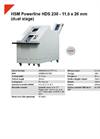 HSM Powerline HDS 230 - 11,5 x 26 mm Hard Drive Shredder (Dual Stage) - Datasheet
