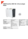 HSM Powerline HDS 150 - 40 mm (single stage) Hard Drive Shredder - Datasheet