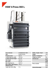 HSM V-Press 860 L Vertical Baling Presses - Datasheet