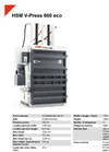 HSM V-Press 860 eco Vertical Baling Presses - Datasheet