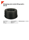 VK 42 Strapping Wire (Coils 20 kg Each) - Datasheet