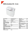 HSM Shredstar S5 - 6 mm Document Shredder - Datasheet