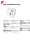 HSM Shredstar S10 - 6 mm Document Shredder - Datasheet