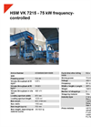 HSM VK 7215 - 75 kW Frequency-Controlled Channel Baling Presses Channel Baling Presses - Datasheet