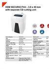 HSM SECURIO P44i - 3,9 x 40 mm with Separate CD Cutting Unit Document Shredder - Datasheet