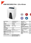 HSM SECURIO P44i - 3,9 x 40 mm Document Shredder - Datasheet