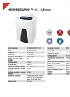 HSM SECURIO P44i - 3,9 mm Document Shredder - Datasheet