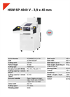 HSM SP 4040 V - 3,9 x 40 mm Shredder Baler Combinations - Datasheet