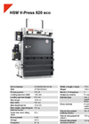 HSM V-Press 820 eco Vertical Baling Presses - Datasheet