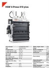 HSM V-Press 818 Plus Vertical Baling Presses - Datasheet