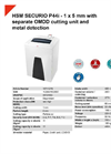 HSM SECURIO P44i - 1 x 5 mm with Separate OMDD Cutting Unit and Metal Detection Document Shredder - Datasheet