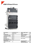 HSM V-Press 610 eco Vertical Baling Presses - Datasheet